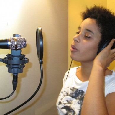 In the studio with Fantine