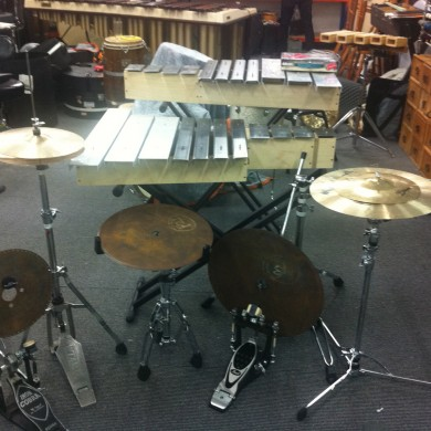 Industrial metal junk percussion kit collab with Synergy percussion
